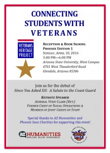 Veterans Heritage Project April 10th event