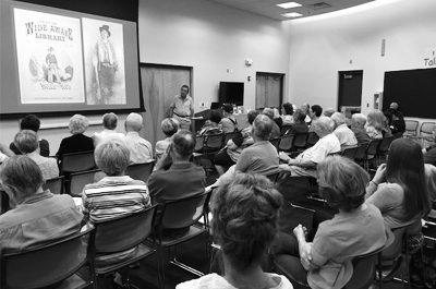Jim turner at Chandler Library courtesy Jean Reynolds